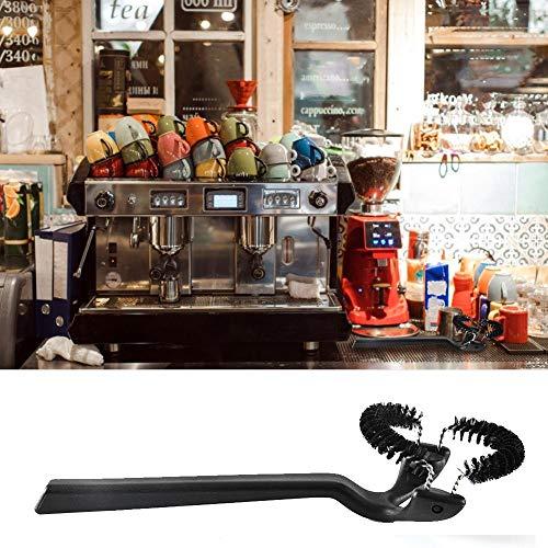 presentimer Spazzola per la Pulizia della Macchina da caffè semiautomatica Spazzola per la Pulizia delle testine Staccabile Spazzola in Nylon Resistente all'Usura Inserto per risciacquo in Acciaio