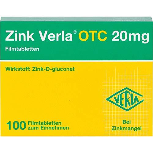 Zink Verla OTC 20 mg Filmtabletten, 100 St. Tabletten