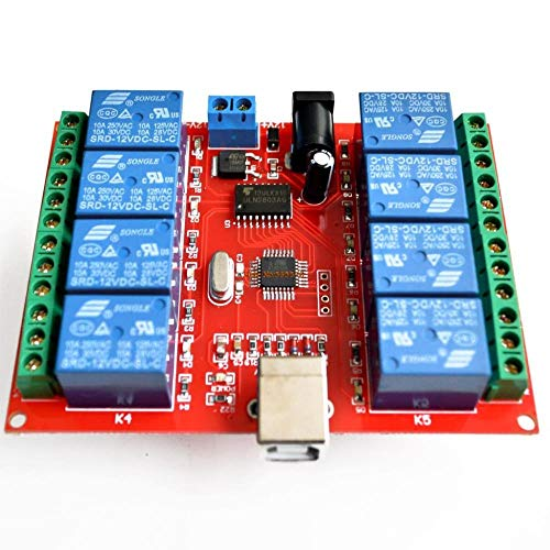 Miwaimao 8 Channel 12V Relay Module/Computer USB Control Switch/Free Driver/PC Intelligent Controller