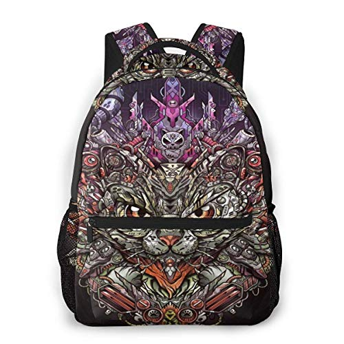 IUBBKI Fashion Lightweight Backpack for School,Travel Backpack Laptop Backpack for Women Men Cat