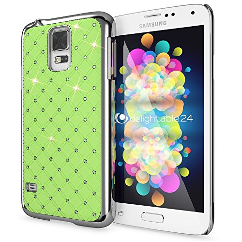 delightable24 Cover Protettiva Shiny Diamond Design Case per Smartphone SAMSUNG GALAXY S5 / S5 NEO - Verde