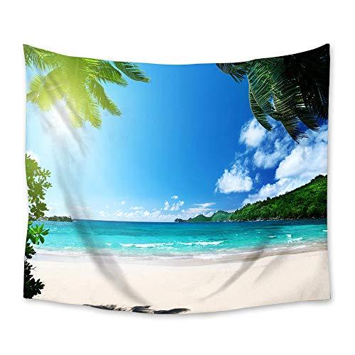 AdoDecor Tapiz de Playa Tropical para Colgar en la Pared, tapices de decoración de Pared, Colcha, Alfombra, decoración del Dormitorio del hogar, 150x180cm