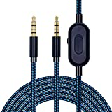 Replacement Cord for Astro A10 A30 A40 A50 Headset, Cable with Volume Control and Inline Mute Function, 2.0M 6.5Ft, Durable Braided Cable Compatible with Xbox One Play Station 4 PS4 Via 3.5mm Jack