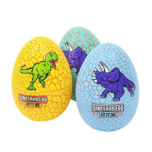 Toyvian 3 Stücke Bunte Dinosaurier Eier Brut Spielzeug Ostern Drachenei Schlüpfen Dino Ei für Kinder (zufällige Muster)