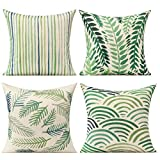 All Smiles Outdoor Throw Pillow Covers for Patio...