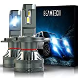 BEAMTECH H4 LED Bulb, 9003 G-XP Chips 110W 6500K High Power Xenon White Conversion Kits 360 Degree Lighting Plug N Play Replacement Low Fog Light