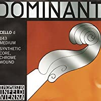 Thomastik Dominant 4/4 Cello D String Medium Chromesteel-Perlon [並行輸入品]