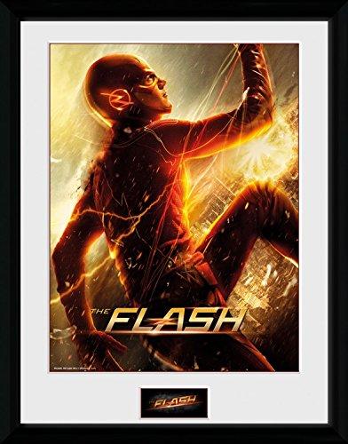 1art1 The Flash - Run Gerahmtes Bild Mit Edlem Passepartout   Wand-Bilder   Kunstdruck Poster Im Bilderrahmen 40 x 30 cm