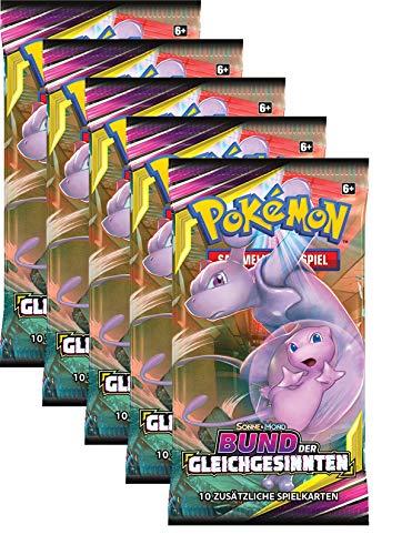 Pokemon TCG Pokemon Sonne & Mond Serie 11-Bund der Gleichgesinnten-5 Booster-Deutsch