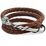 Beau Soleil Jewelry Armband Lederarmband Wickelarmband für Damen und Herren Unisex Lederschmuck Ibiza Style