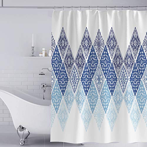 YISUN Anti-Schimmel Duschvorhang, Anti-Bakteriell Duschvorhang, waschbar mit 12 Duschvorhangringen (Hellblau)