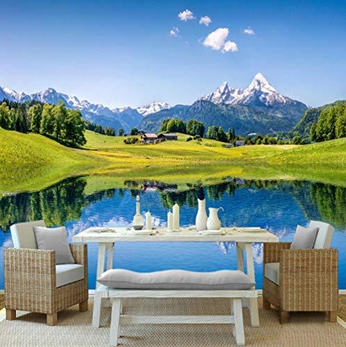 Fotobehang, vliesbehang, boerderij, wanddecoratie, decoratief, voor woonkamer, elegant, modern 400cm x 280cm