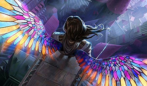 RFG REMOVE FROM GAME Angel Stained Glass Playmat 24 x 14 inch Mousepad for Yugioh Pokemon Magic The Gathering