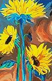 Kits Diy Pintura Al Óleo Para Adultos Y Niños Y Principiantes Pintar Por Número Kits Girasol Flor Para La Decoración De La Pared De La Casa Con Pinceles Y Pinturas 16 X 20 Pulgadas Con Marco
