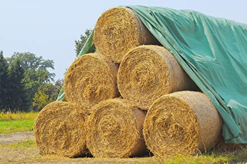 Land-Grid V01 Strohvlies, Abdeckvlies, Schutzvlies für Stroh, Getreide, Heu, Kompost, 140g/m² - 9,8 x 12,5m