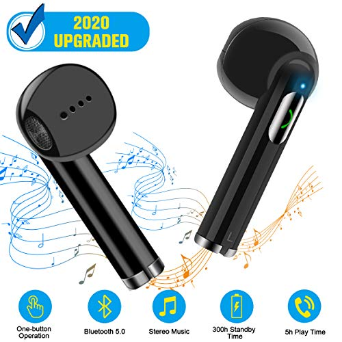 Wireless Earbuds,Bluetooth Earbuds Wireless Earphones Stereo Wireless Earbuds with Microphone/Charging Case Bluetooth in Ear Earphones Sports Earpieces Compatible iOS Samsung Android Phones Black 1