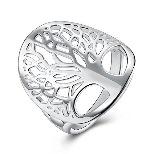 YAZILIND Brillante joyería Hueco diseño Forma árbol