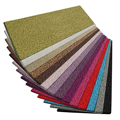 casa pura Shaggy Teppich Läufer Barcelona | weicher Hochflor Teppichläufer für Flur, Wohnzimmer, Schlafzimmer etc. | GUT-Siegel | viele Größen | Moderne Farben | 80x250 cm | Grün