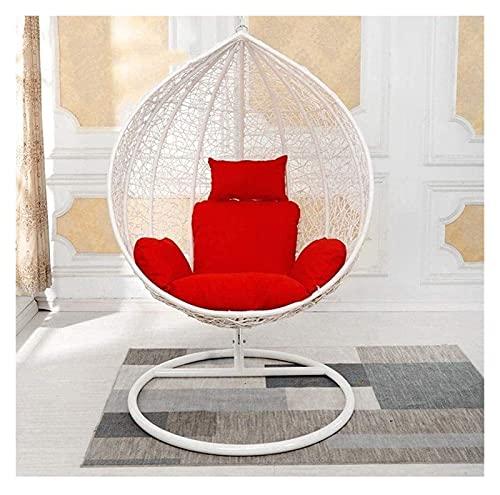 HYCy Cojines para Exteriores para sillas de Patio Cojín Colgante para Silla de Huevo/cojín para balancín de ratán Colgante/cojín para Cesta oscilante, cojín Individual de ratán, Cojines para tumbonas