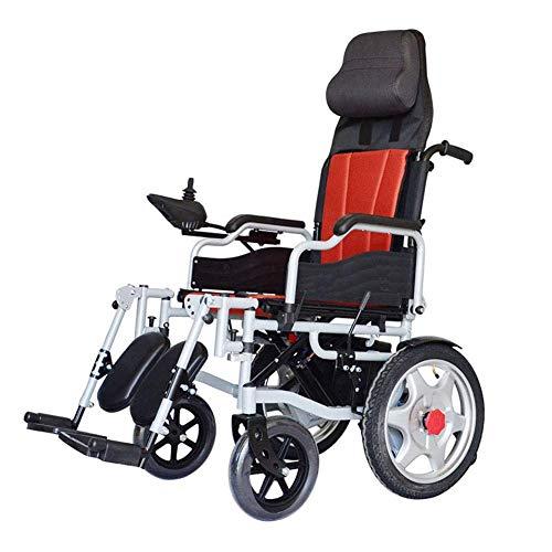WXDP Silla de ruedas autopropulsada,Multifuncional eléctrico inteligente plegable portátil anciano discapacitado Scooter