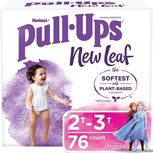 Pull-Ups New Leaf Girls' Potty Training Pants Training Underwear, 2T-3T, 76 Ct