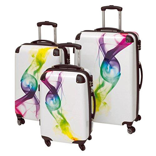 3-teiliges Trolley-Kofferset Reisekoffer Hartschale 'WAVE'