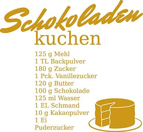 Muurtattoo Muursticker voor Keuken Chocolade Cake Recept