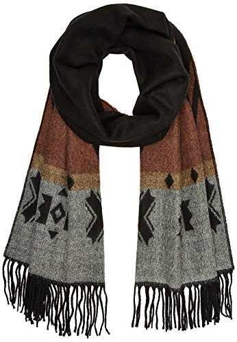 PIECES Damen Schal Pcpilatas Long Scarf, Mehrfarbig(Black), One size