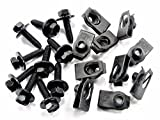 Retro-Motive Body Bolts & U-Nuts for GM & Others- M6-1.0mm Thread- 10mm Hex- (Qty-10 Each) #1872