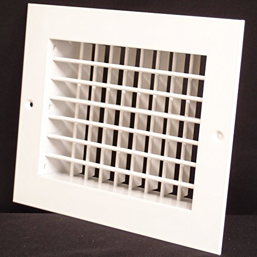 12'w X 6'h Aluminum Double Deflection Adjustable Air Supply HVAC Diffuser - Full Control Vertical/Horizontal Airflow Direction - Wide Front End Overlap - Vent Duct Cover