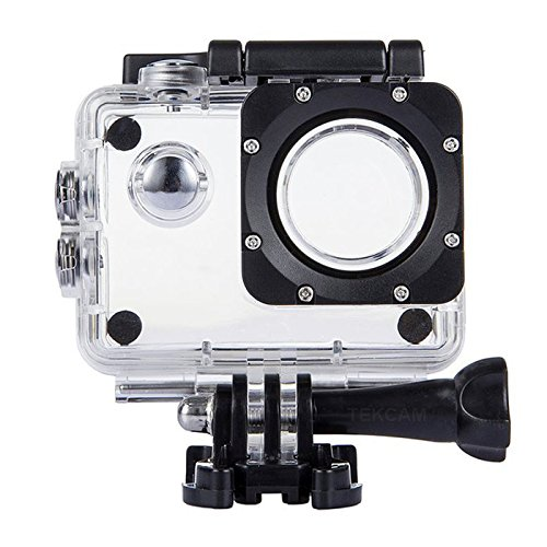 TEKCAM Waterproof Housing Case Cover Compatible with DBPOWER EX5000 Waterproof Action Camera 12MP / AKASO EK7000 EK5000 / ODRVM Professional Full HD Sports Camera Housing Case Underwater Shell