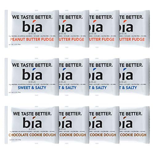Bia Bar | Gluten Free High Protein Fudge Bar | Meal Replacement Protein Bar | Naturally Sweetened with Honey | NON GMO, 15g of Protein & No Artificial Flavoring (Variety Pack)
