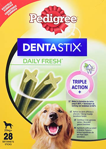 PEDIGREE 722406/1198 Hundesnacks Hundeleckerli Dentastix Daily Fresh Zahnpflege 1080 g, 4er Pack (4 x 28 Sticks x 1080 g)
