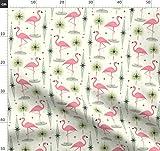 Rosa Flamingos, Flamingos, Palmenblätter, Diamanten, Mitte