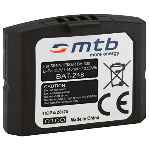 Batería BA-300 para Auriculares inalámbricos Sennheiser RI 410 (IS 410), RI 830 (Set 830 TV), RI 830-S, RI 840 (Set 840 TV), RI 900, RR 4200. - v. Lista
