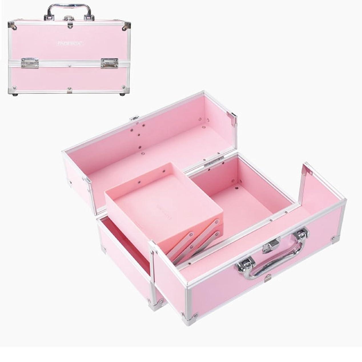 宣教師蚊ループ「XINXIKEJI」メイクボックス コスメボックス 大容量 2段/3段 化粧ボックス スプロも納得 収納力抜群 鍵付き かわいい 祝日プレゼント  取っ手付 コスメBOX