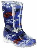 ConWay Gummistiefel blau Regenstiefel Kinderschuhe Lichtfunktion Stiefel Schuhe Car, Farbe:blau, Größe:26 EU