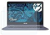 Bruni Schutzfolie kompatibel mit Asus VivoBook Flip 12 Folie, glasklare Bildschirmschutzfolie (2X)