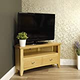 Oakland Modern Oak Corner TV Unit | TV Stand Storage TV Cabinet | Light Wood Tone