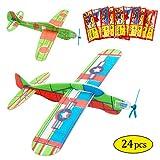 MMTX Planeur Avion Set, Avion en Papier, Avions Planeurs Volants, Cadeau d'anniversaire pour Enfant, Donnez à la fête d'anniversaire pour Enfant Fête Loot Bag Stocking Fillers Fun