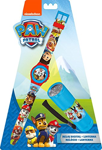 Kids Licensing Set Reloj Digitale, lámpara 9LED, Pat Patrulla