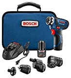 Bosch GSR12V-140FCB22 Cordless Electric Screwdriver 12V Kit - 5-In-1 Multi-Head Power Drill Set