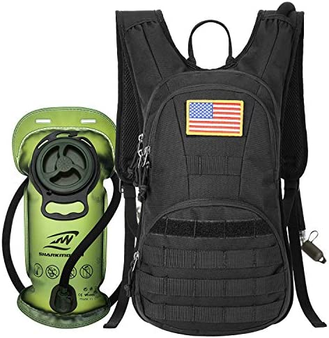 SHARKMOUTH Hydration Pack Tactical Molle Hydration Pack Backpack 900D with 2L BPA Free Hydration product image