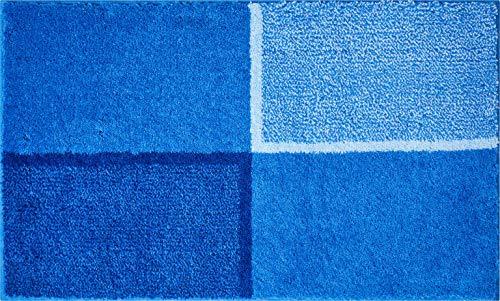 Grund Diviso Tappeto per Il Bagno, Poliacrilico Supersoft, Blu, 70x120 cm