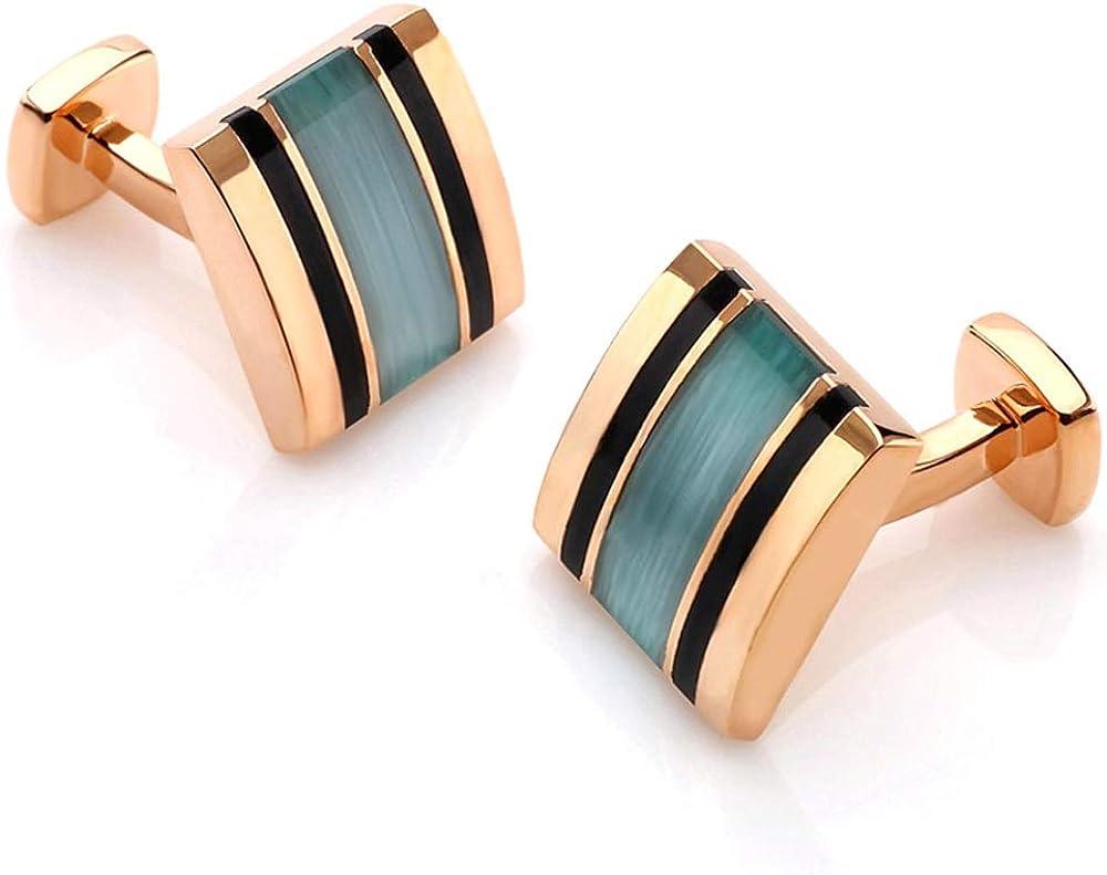 DDSS Cufflinks, French Shirt Men's Cufflinks Creative Opal Gemstone Cuffs Cufflinks, Business Wedding Meeting Gifts, Men's Cufflinks