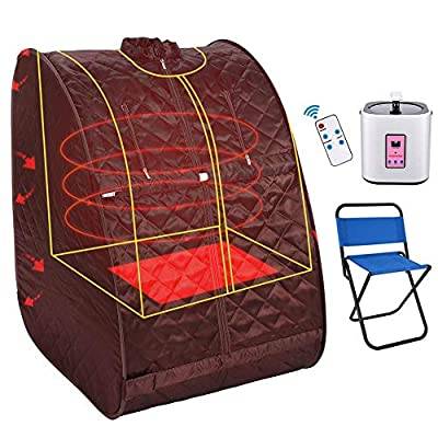 Casulo Personal Portable Steam Sauna Home Spa detoxwith Collapsible Chair, Timer, Waterproof one-Person Portable Sauna Relaxes Muscles/Burn Calories/Weight Loss