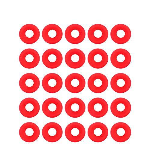 Juntas de silicona - 25 piezas de sello de silicona roja Grolsch juntas para columpio Flip Top Bottle Home Brew Sellos de botellas de cerveza anti-deformación