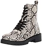 Steve Madden Women's Guided Fashion Boot, Natural Snake, 7.5 M US