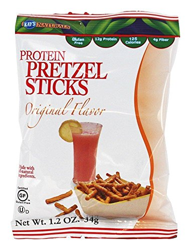 Kay's Naturals Protein Pretzel Sticks, Original, Gluten-Free, Low Fat, Diabetes Friendly, All Natural Flavorings, 1.2 Ounce (Pack of 6)