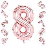 Números 8, hoja Digital globos con helio para cumpleaños aniversario fiesta decoraciones del Festival los globos de oro grande de 42 pulgadas